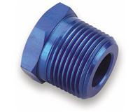 991203 - 1/8 NPT FEMALE TO 3/8 NPT MALE ALUMINUM REDUCER BUSHING